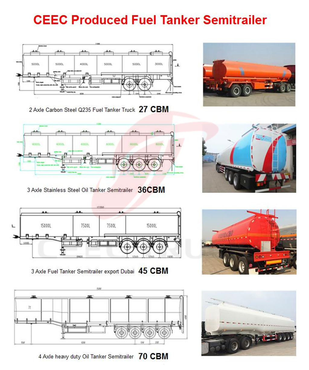 optional ceec produced fuel tanker semitrail