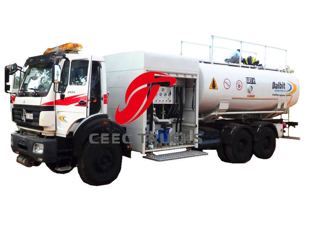 Beiben 20 CBM fuel truck for airplane dispensing