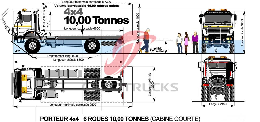 HOWO Offroad 6 wheelers truck chassis drawing