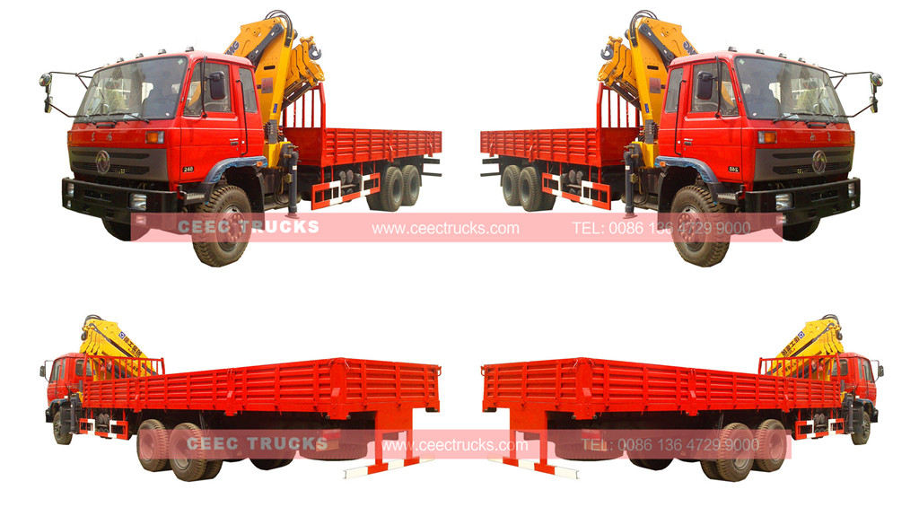 Dongfeng 12Tons knuckle boom crane trucks for sale
