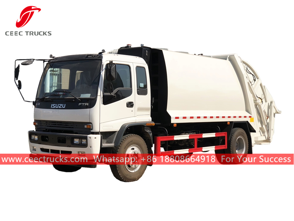 ISUZU 12CBM Refuse compression truck for sale