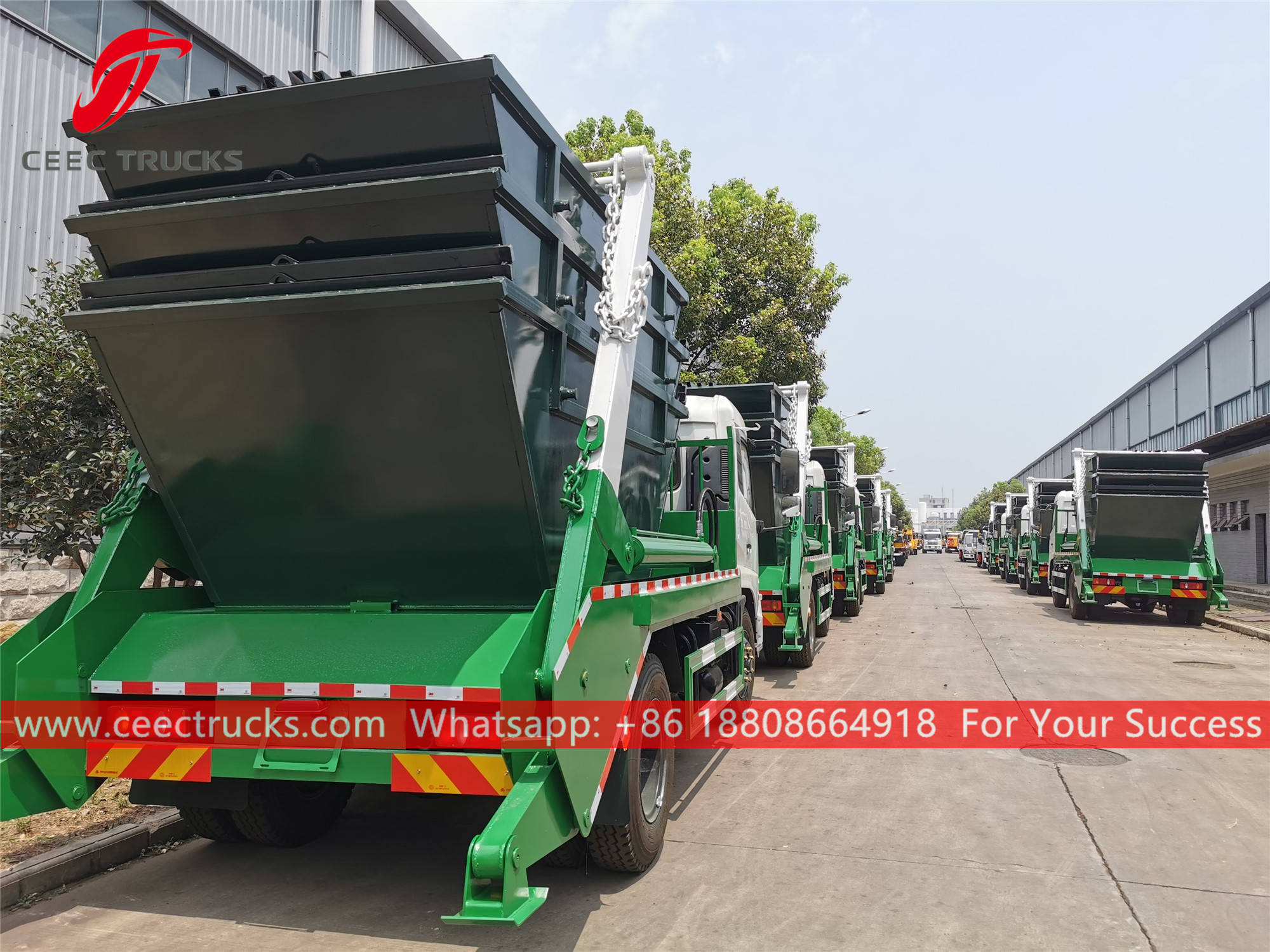 20 units RHD swing arm refuse trucks for Tanzania