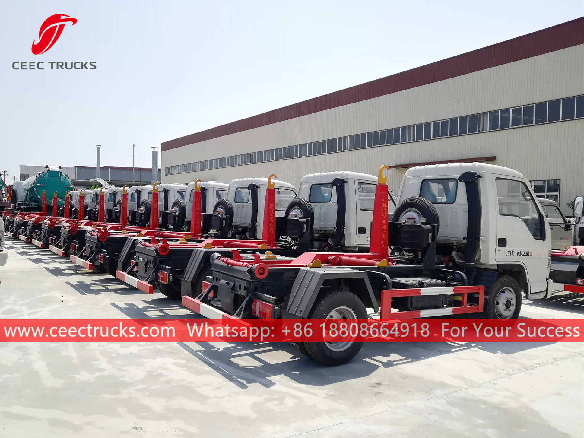 Hook lift garbage trucks