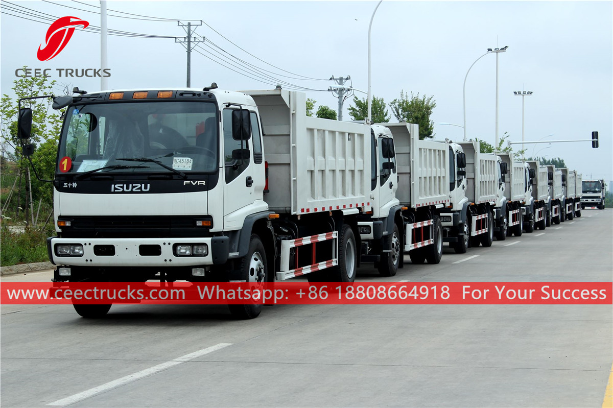 10 units ISUZU 6*4 Dump trucks are exported to Philippines