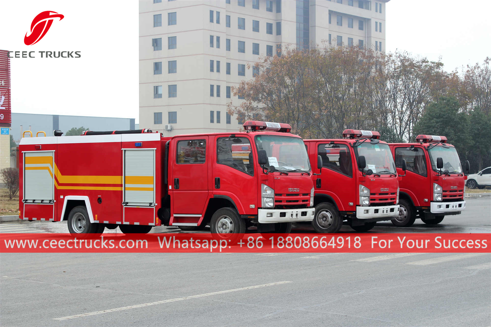 3 units ISUZU Fire rescue trucks were delivered