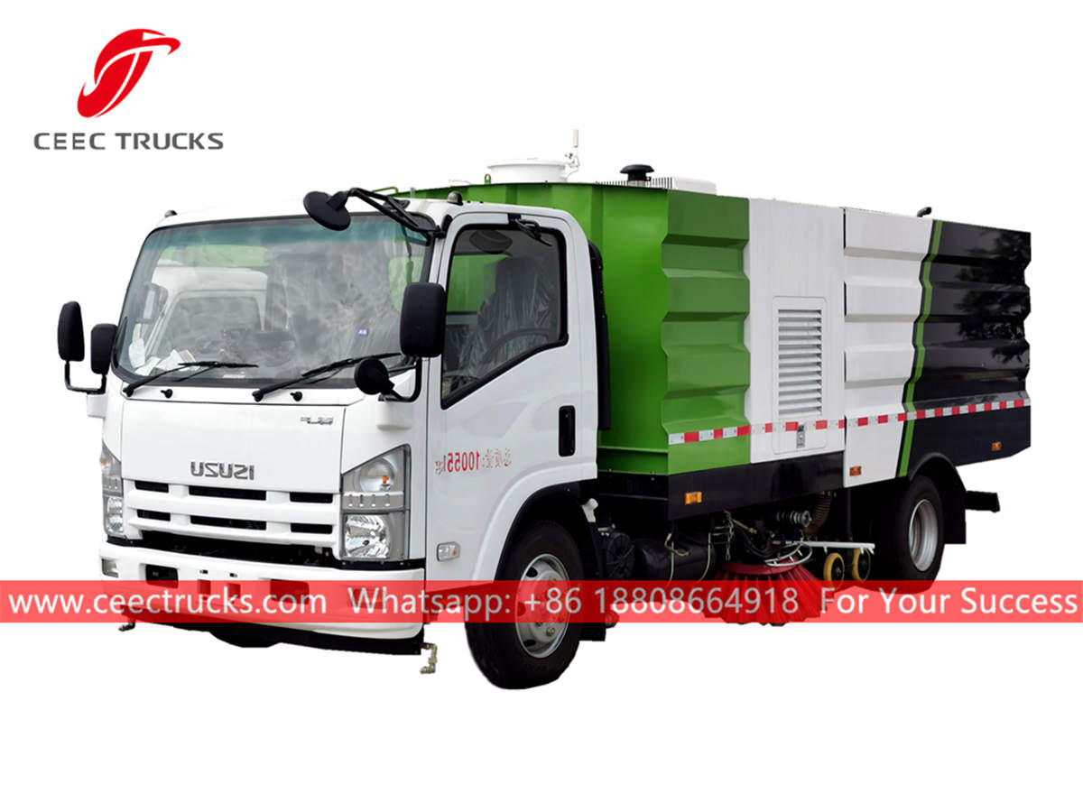 High quality ISUZU road cleaner truck for sale