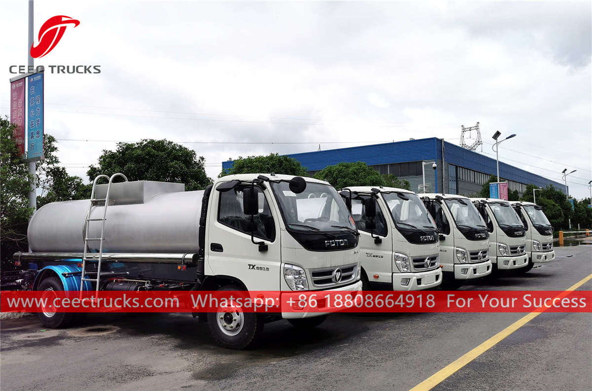 Stainless steel drinking water trucks for sale