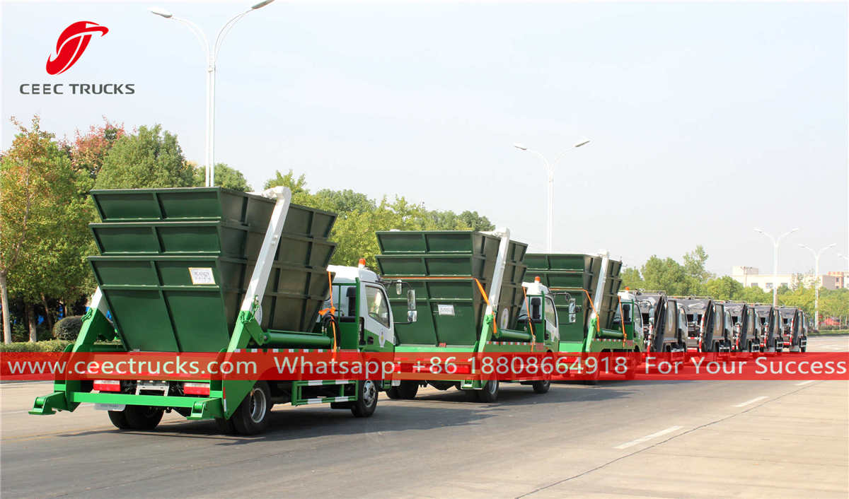 Swing arm garbage trucks for sale