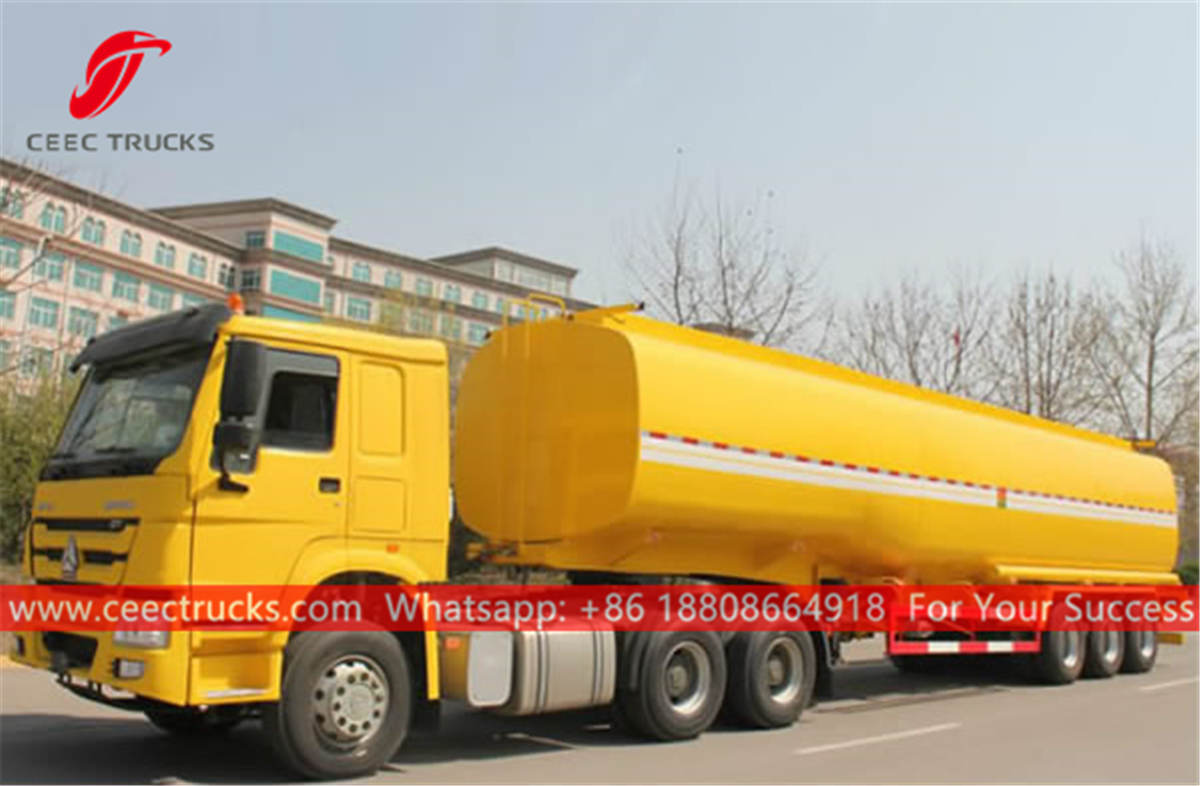 HOWO 6x4 prime mover with oil tanker