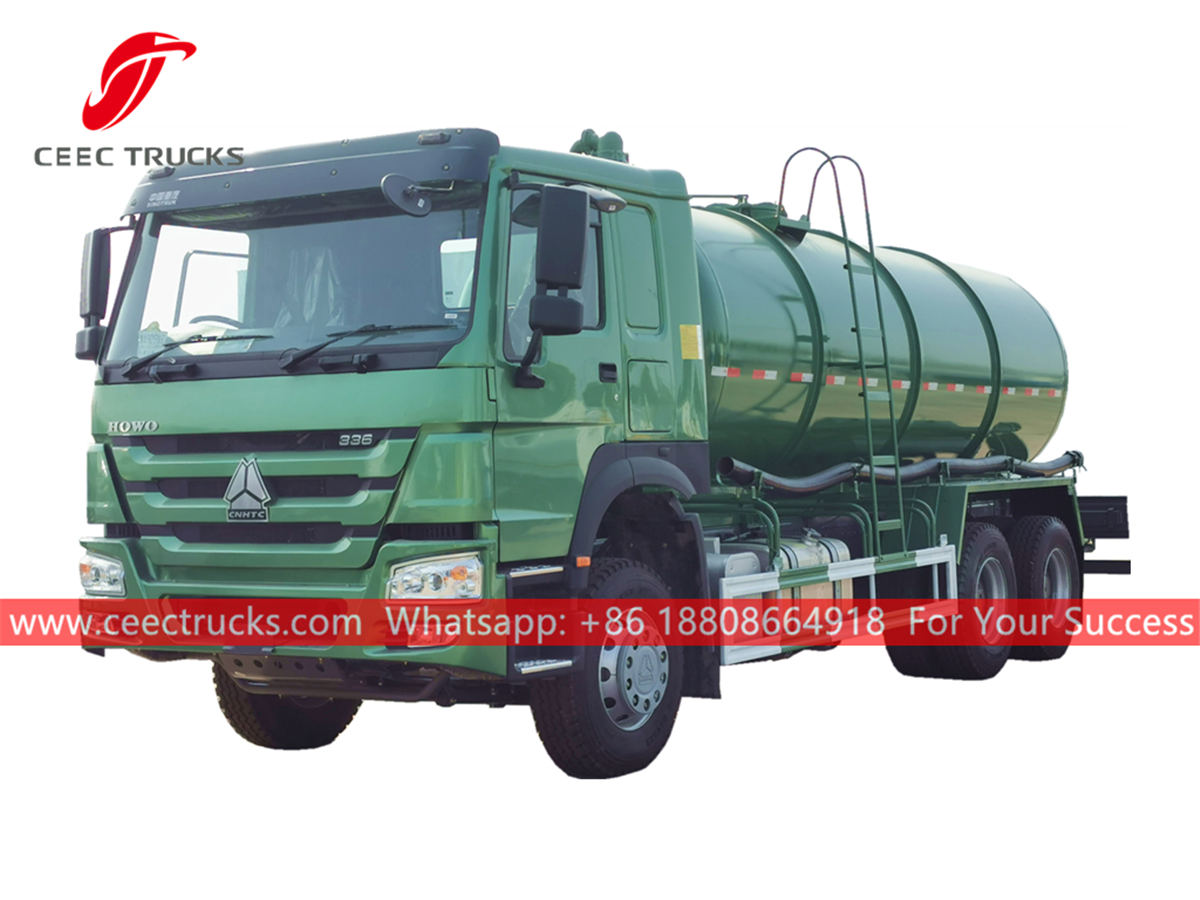 HOWO 336HP euro 3 vacuum truck for sale