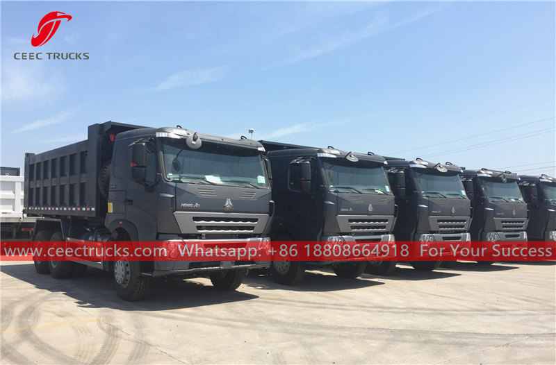 China HOWO A7 dumper trucks for sale