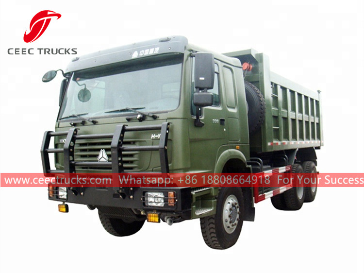 HOWO 6x6 off-road dump truck for sale