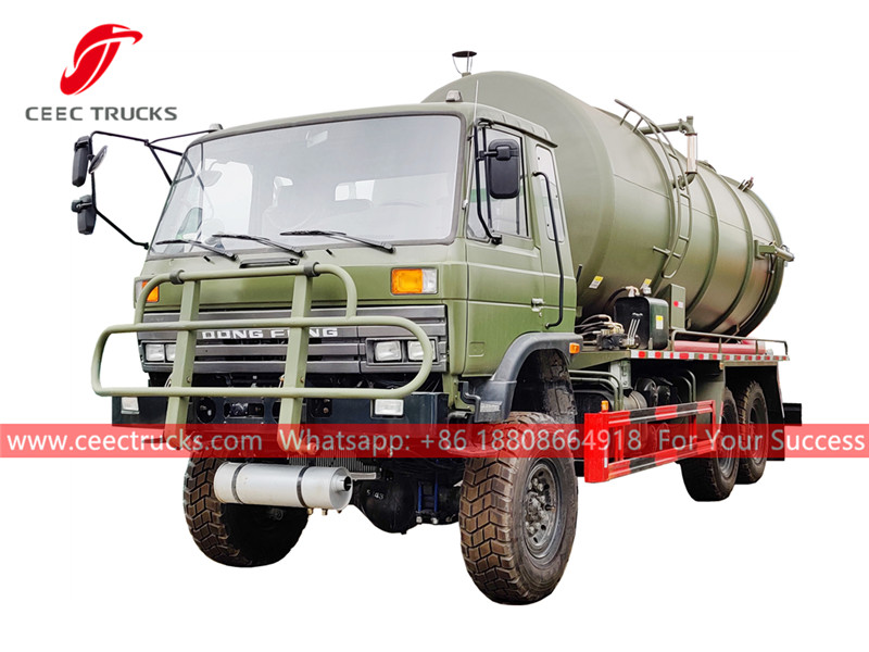 Dongfeng 6×6 sewer sucker truck