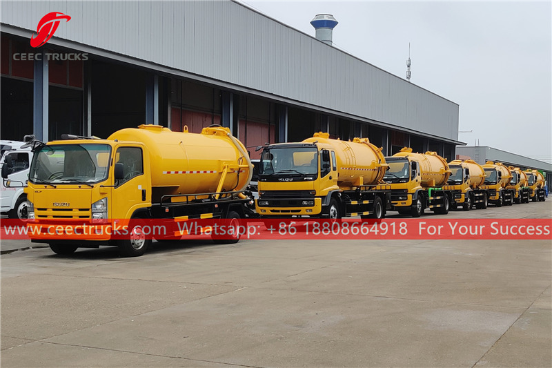 7 units ISUZU vacuum trucks for export