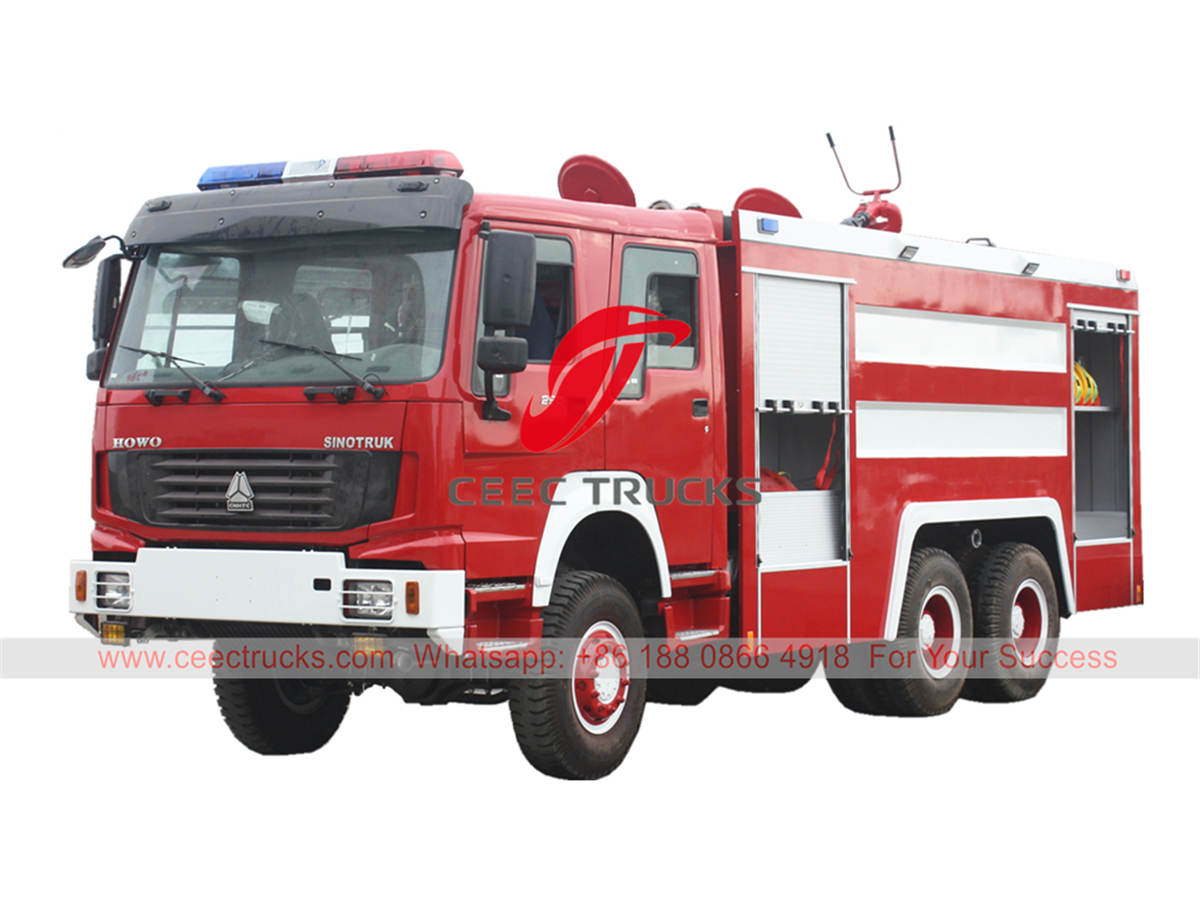 HOWO 6×6 off-road fire engine