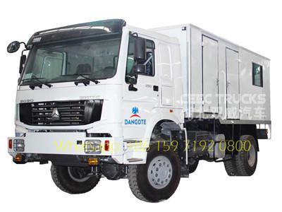 Durable HOWO all wheel drive mobile workshop truck manufacturer CEEC TRUCKS