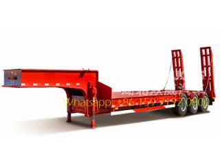 60 t semi semi-3-axle semi bed trailer