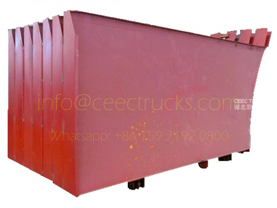Garbage compactor truck body side plate assembly