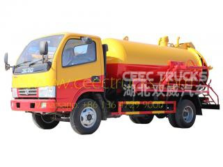 dongfeng 4،000l septic suction pump شاحنة