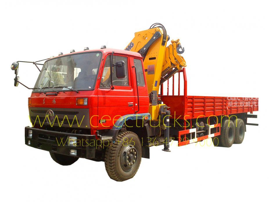 12 T knuckle mounted boom crane trucks dongfeng