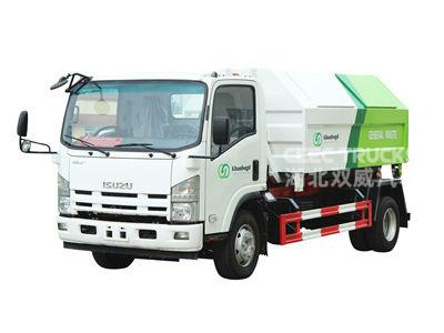 ISUZU 8cbm hook loader truck