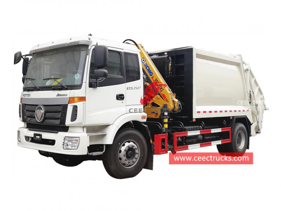 FOTON 8000Liters waste compactor vehicle