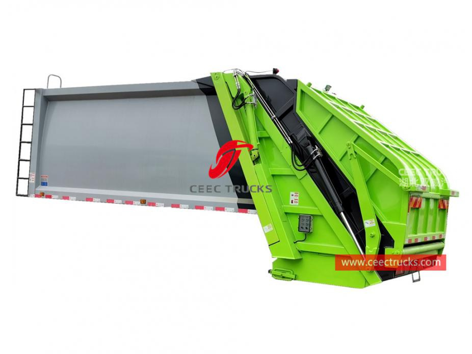 European standard 10,000 liters compressed refuse truck body