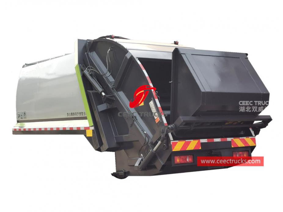 New designed 14,000 liters waste compactor truck body