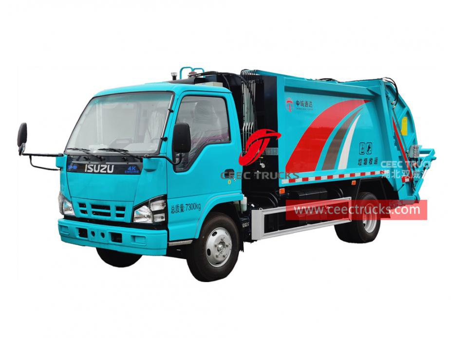 ISUZU 130HP garbage compactor for sale