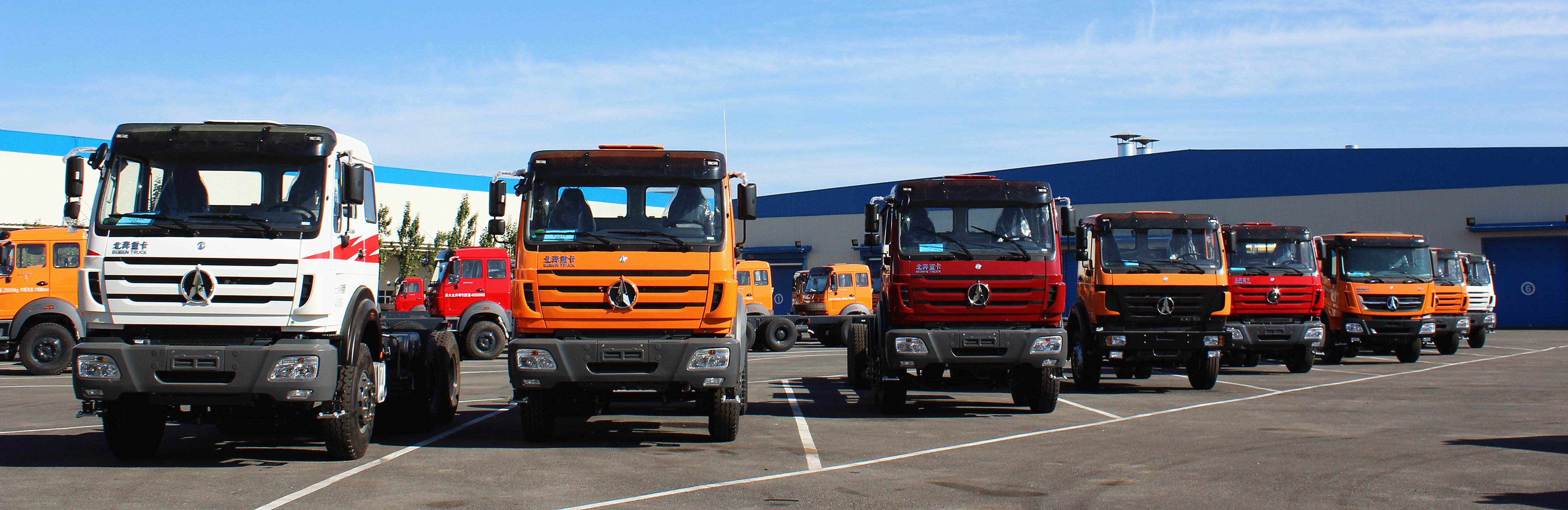 Beiben tractor trucks in factory stock for quick delivery
