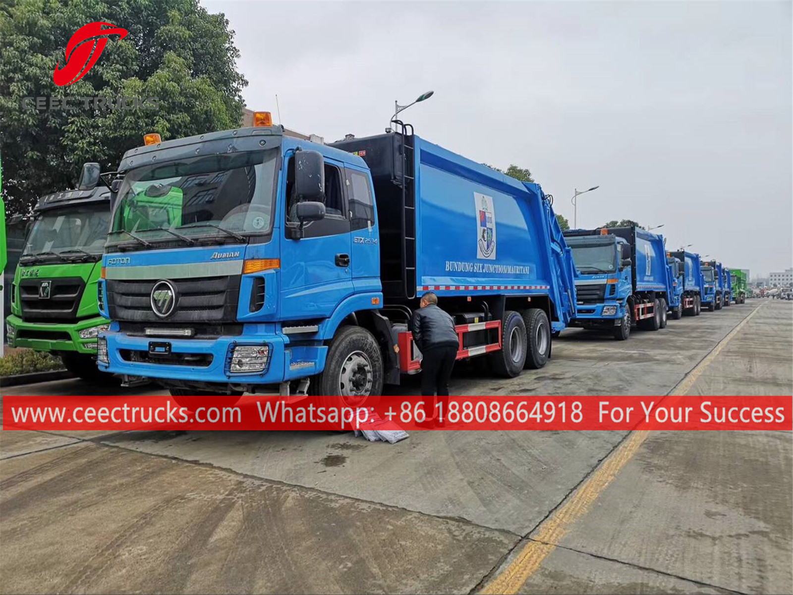 Gambia- 18 units Foton garbage trucks for exporting