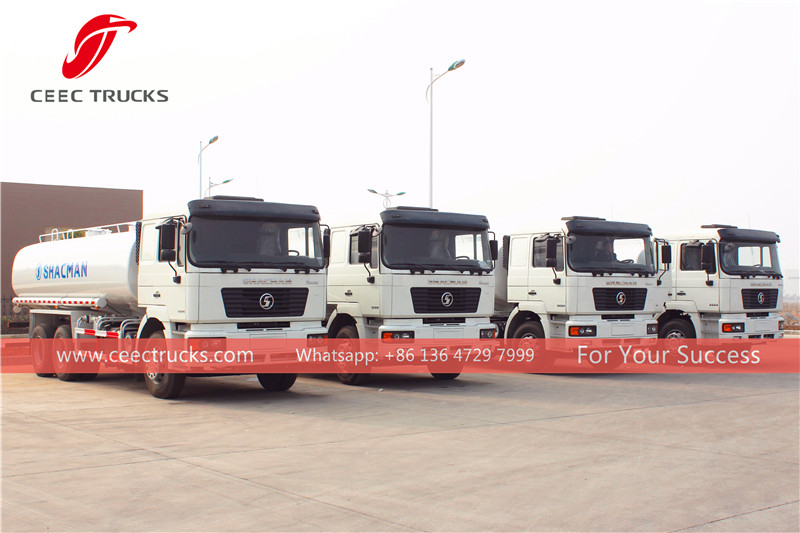 Angola- 50 units shacman water tanker truck for exporting.