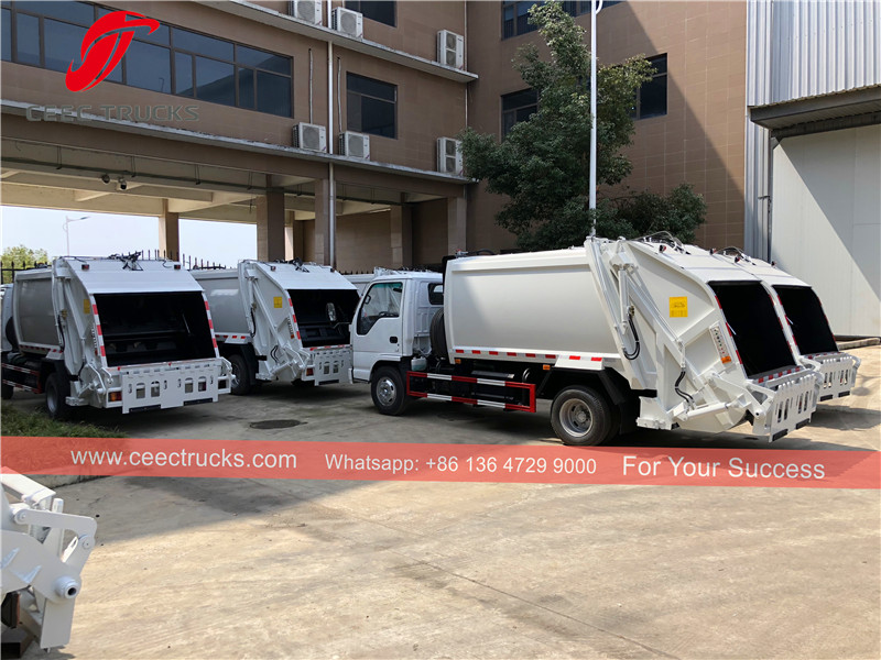 27 units ISUZU garbage compactor trucks were exported to Myanmar