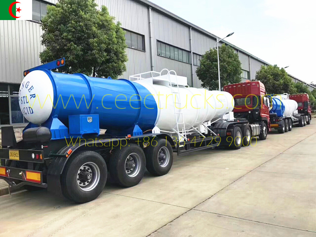 Algeria customer buy 10 units Acid semitrailer from CEEC TRUCKS