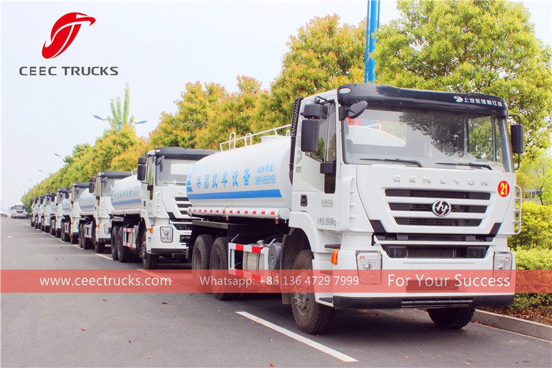 China- 50 units IVECO water tanker truck for Xinjiang goverment.