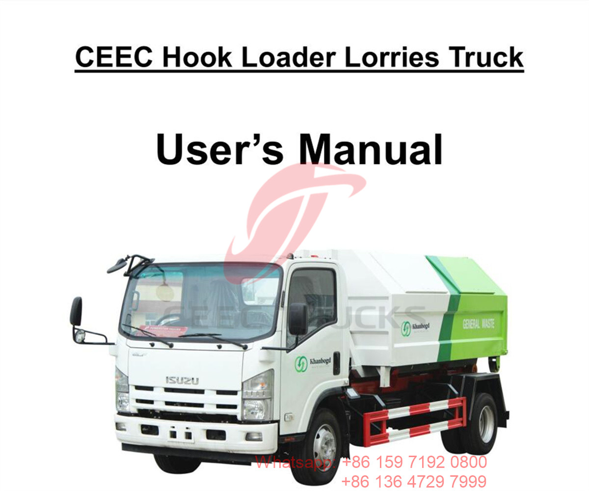 منغوليا - isuzu 8cbm hook loader lorries truck manual